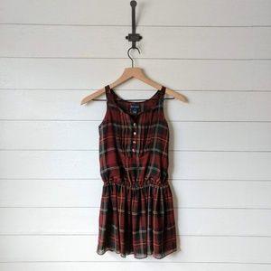 Ralph Lauren Tartan Plaid Sleeveless Peplum Dress